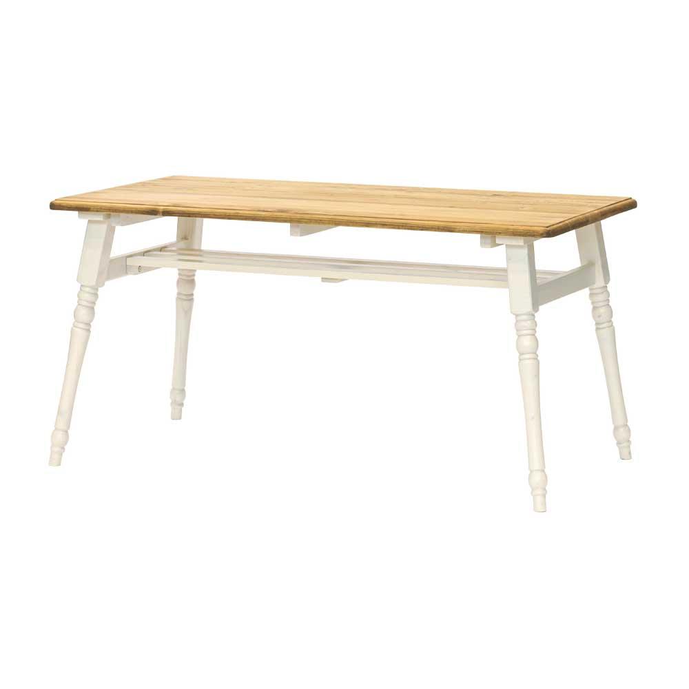 135食堂テーブル LBR/WHW w14894