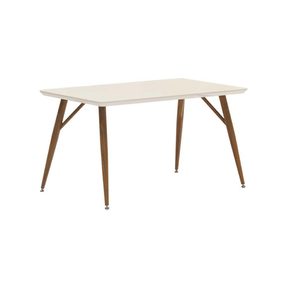130食堂テーブル WH/BR w15048