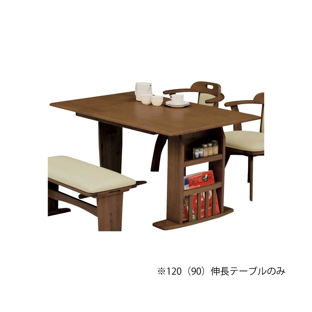 120(90)食堂テーブル BR w16794