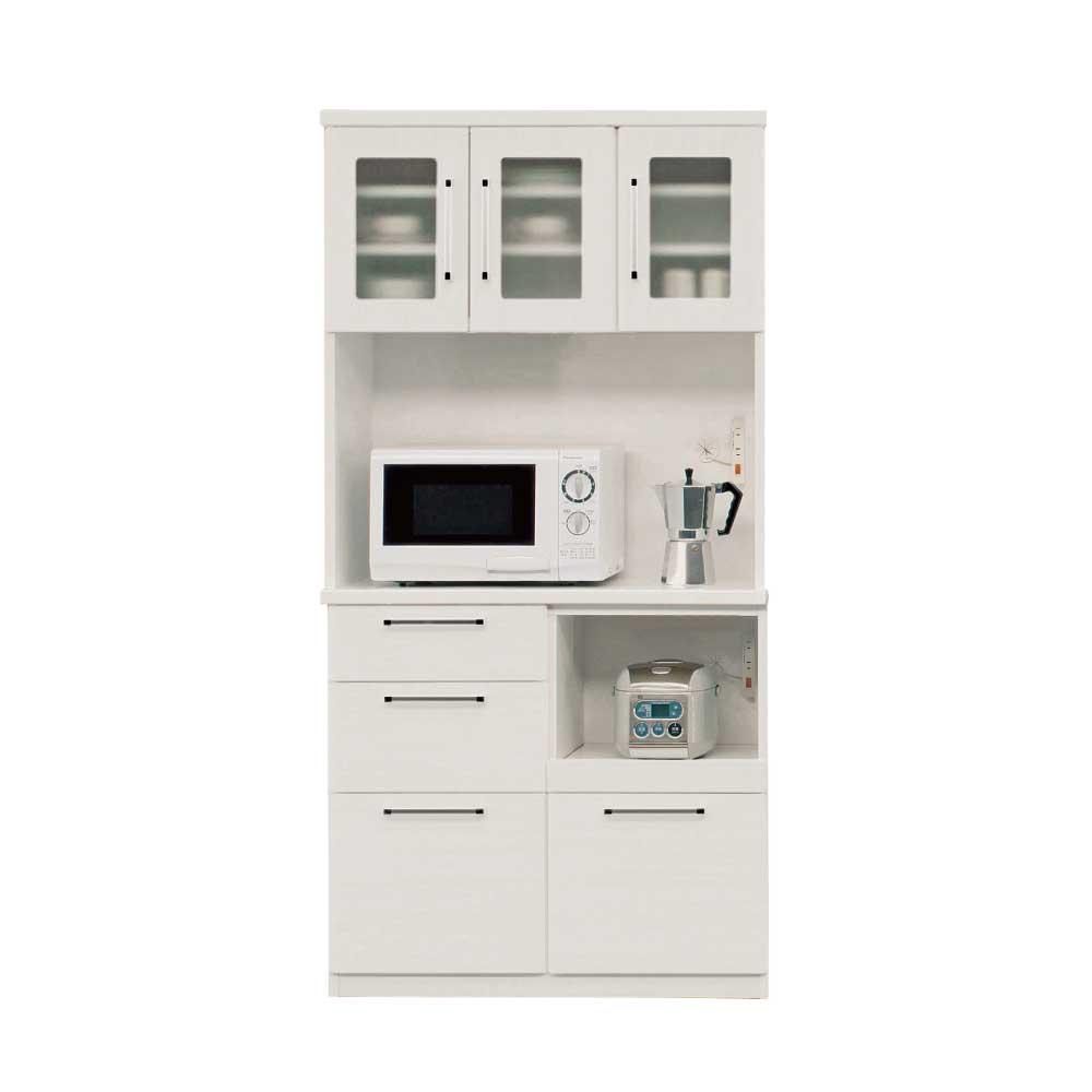 90OP食器棚 WH w16846