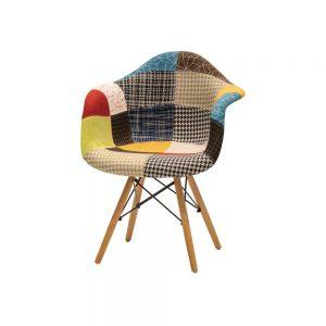 肘付食堂椅子 パッチワーク w17178