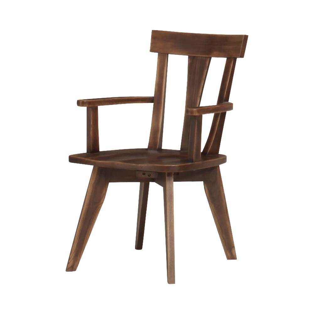 肘付き固定食堂椅子 w12075