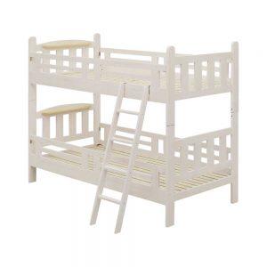ちょい棚付二段ベッド WH/NA w00049w00044