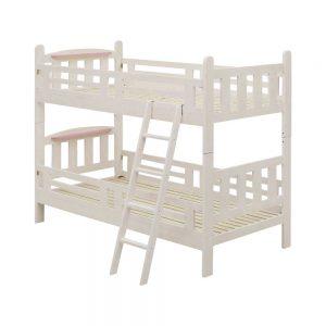 ちょい棚付二段ベッド WH/PK w00049w00046