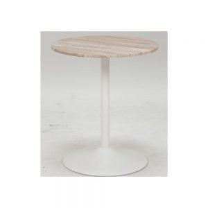 60丸カフェテーブルWH w03457