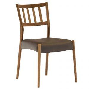 食堂椅子 BR 縦桟 w14946